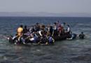 Des syriens débarquent sur l'île de Lesbos en Grèce.