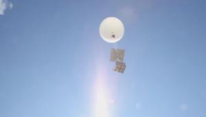 Une saucisse de Morteau a été envoyé dans la stratosphère via un ballon-sonde rempli de capteurs réalisé par les élèves du collège Saint-Exupéry de Beaucourt dans le Territoire-de-Belfort.