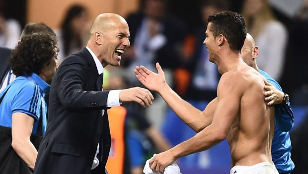 Zidane et Ronaldo le 28 mai 2016.