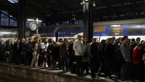 grève SNCF gare Saint-Lazare
