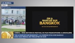 Kad Merad disparaît en pleine interview sur LCI lors du Festival d'Angoulême, le 23 août 2014.
