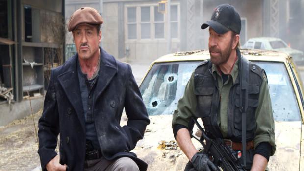 Sylvester Stallone et Chuck Norris dans Expendables 2 : unité spéciale