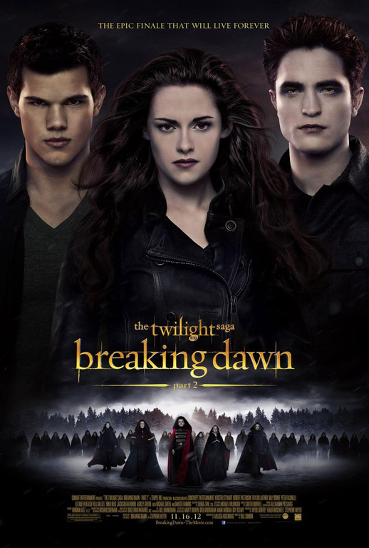 Affiche américaine du film Twilight - Chapitre 5 : Révélation (2e partie)