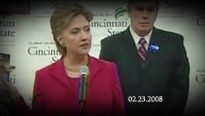 Allocution d'Hilllary Clinton de 2008, utilisé dans un clip de campagne de Mitt Romney en 2012