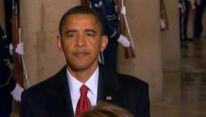 Barack Obama au Capitole pour sa prestation de serment.