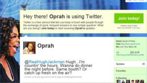 Oprah Winfrey sur Twitter