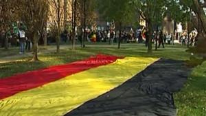 Des milliers de personnes ont défilé le 18 novembre à Bruxelles pour défendre l'unité de la Belgique/TF1