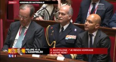 """Felipe VI à l'Assemblée : """"La France et l'Espagne nourrissent le même rêve européen"""", affirme Bartolone"""