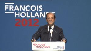 François Hollande présente ses voeux à Tulle, le samedi 7 janvier 2012.