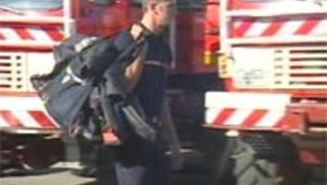 pompier sac à dos
