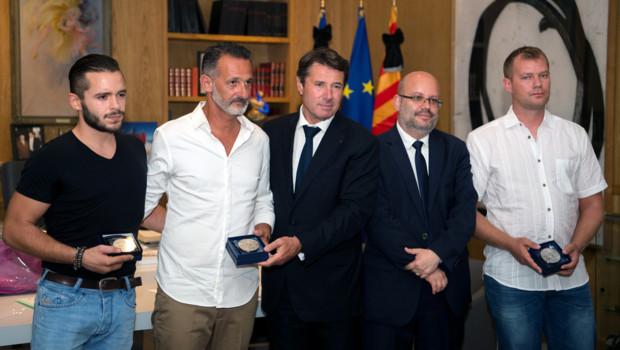 Trois Niçois récompensés de la médaille de la Ville, le 25/07/16