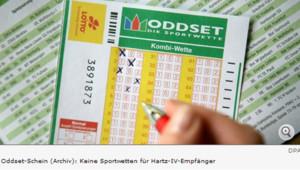 Les chômeurs allemands ne pourront peut-être plus se livrer aux paris sportifs.