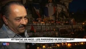 Attentat de Nice : recueillement sur la Place de la République