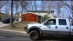 La maison de Toms River (New Jersey) où un enfant de 4 ans a tué un de ses camarades d'une balle dans la tête (9 avril 2013)