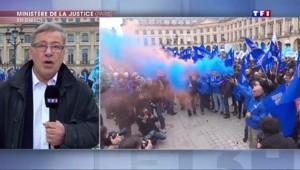 Manifestation rarissime : les policiers devant le ministère de la Justice
