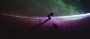 Une aurore boréale filmée depuis l'espace.