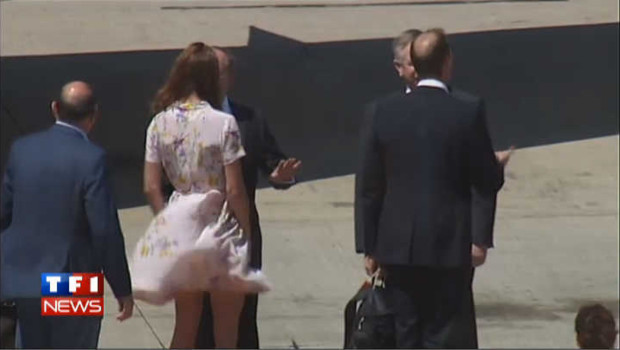 VIDEO : De retour à Londres, Kate Middleton joue les Maryline