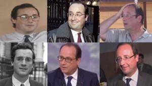Rétrospective looks de François Hollande entre 1981 et 2014.