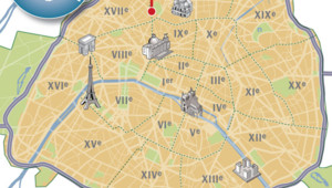 Carte avenue de Clichy, Paris XVIIIe.