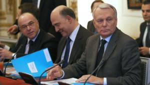 Jean-Marc Ayrault, Pierre Moscovici et Bernard Cazeneuve.
