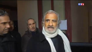 Jean-Paul Belmondo lors des obsèques de Michel Galabru, le 12 janvier 2016.