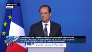 """Juncker à la tête de la Commission européenne : """"Pour la France, c'était une logique"""""""