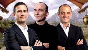 Peter Molyneux, entouré des responsables de la Xbox en France