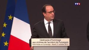 """Puisseguin - François Hollande : """"C'est le pays tout entier qui s'est trouvé bouleversé"""""""