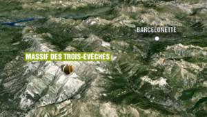 situation carte crash airbus germanwings Alpes de Haute provence