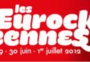 L'affiche des eurockéennes de Belfort, du 29 juin au 1er juillet 2012.