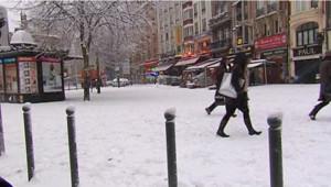 La neige à Lille, le 20 décembre 2009.