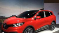 Le Renault Kadjar, présentée ici le 2 février 2015 lors d'une conférence présidée par Carlos Ghosn.