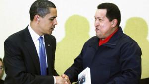 Barack Obama et Hugo Chavez