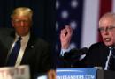 Donald Trump et Bernie Sanders dans le New Hampshire le 10/02/16