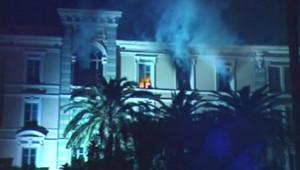 Incendie à l'Assemblée territoriale de Corse à Ajaccio