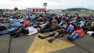 Manifestation aéroport de Brest