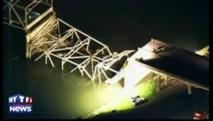 USA: rupture d'un pont, des voitures et des personnes atterrissent dans l'eau