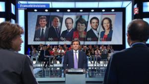 Débat télévisé sur France 2 entre les candidats à la primaire PS (15 septembre 2011)