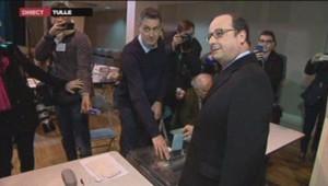 François Hollande a voté à Tulle pour le premier tour des régionales