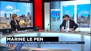 "Marine Le Pen demande à Hollande un ""large débat national"""