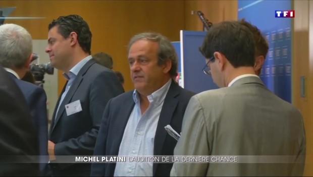 Michel Platini confiant devant le tribunal arbitraire du sport