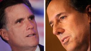 Mitt Romney et Rick Santorum