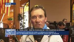 "Vice-champion olympique de la mass-start, Martin Fourcade ""s'est battu jusqu'au bout"""