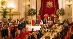 Buckingham Palace banquet Chine Xi Jinping salle à manger