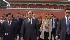 François Hollande à la Cité interdite