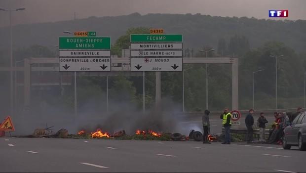 Grève des routiers : le Havre, une ville à l'arrêt
