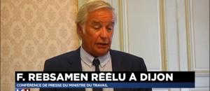 """Rebsamen réélu maire de Dijon mais... """"frustré"""" de quitter son ministère"""