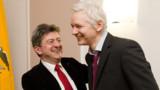 """WikiLeaks : Mélenchon a rencontré le """"prisonnier"""" Assange"""