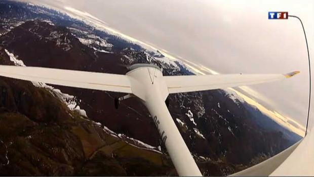 A bord d'un planeur pour atteindre des sommets