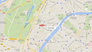 Carte du XVI arrondissement de Paris Station Boulainvilliers